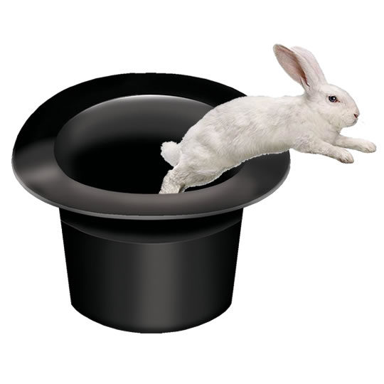 Content Marketing White Rabbit Jumping Out Of A Black Top Hat