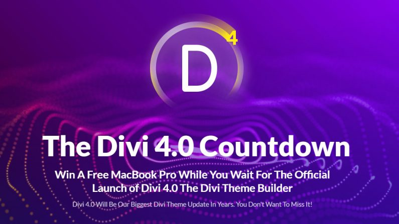 Divi 4 is coming